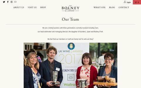 Screenshot of Team Page bolneywineestate.com - Our Team - Bolney Wine Estate Limited - captured Aug. 3, 2018