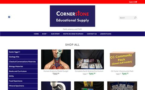 Screenshot of Products Page cornerstone-edsupply.com - Products | Cornerstone Educational Supply - captured July 7, 2018