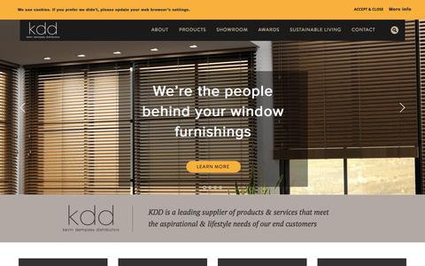 Screenshot of Home Page kdd.ie - KDD - a leading supplier of lifestyle products and services - captured Oct. 6, 2014