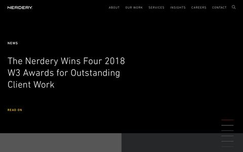 Screenshot of Press Page nerdery.com - Press Releases & In The News | Nerdery - captured Oct. 26, 2018