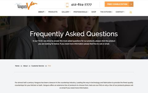 Screenshot of FAQ Page vangura.com - Need Help Or Have Any Query? | Read Our Frequently Asked Questions - captured Dec. 20, 2018