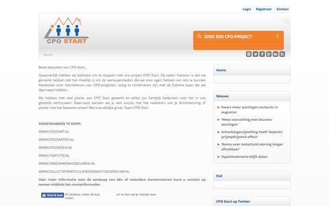 Screenshot of Home Page cpostart.nl - CPO Start   Het Startpunt voor CPO - captured July 9, 2016