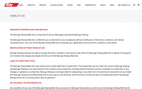 Screenshot of Terms Page batlogic.net - Terms Of Use - BAT Logic - captured Dec. 17, 2015