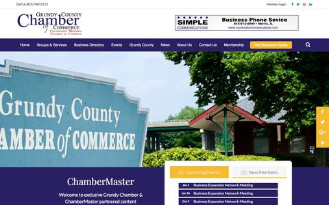 Screenshot of Maps & Directions Page grundychamber.com - Map - Grundy County Chamber of Commerce - captured Sept. 23, 2017