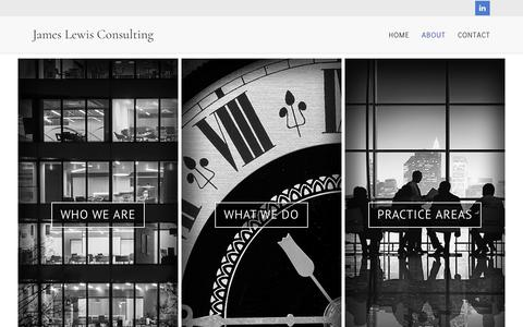 Screenshot of About Page j-lc.co.uk - About |  James Lewis Consulting - captured Nov. 26, 2016