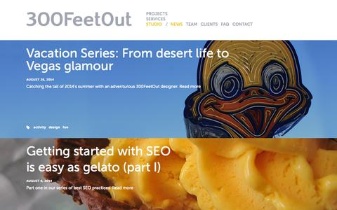 Screenshot of Press Page 300feetout.com -   300FeetOut   Pushing boundaries by integrating brands, marketing, design, and strategy - captured Oct. 27, 2014