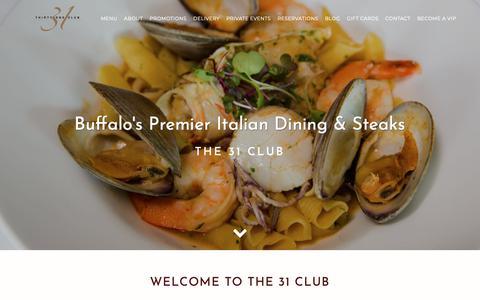 Screenshot of Home Page the31club.com - 31 Club - captured Oct. 19, 2018