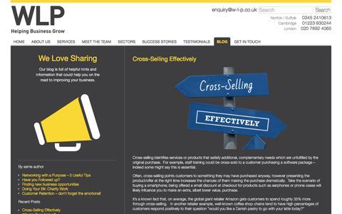 Screenshot of Blog w-l-p.co.uk - Cross-Selling Effectively | - captured Sept. 20, 2018