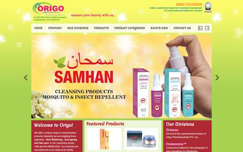 Screenshot of Home Page origopharma.com - Online beauty products in India-Cosmetic makeup Store - captured Dec. 6, 2016
