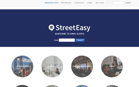 Screenshot of Press Page streeteasy.com - StreetEasy MediaRoom - Press Release Home - captured July 11, 2018