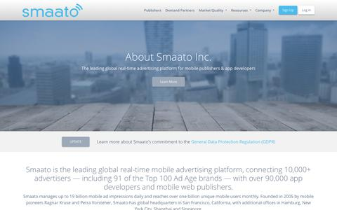 Screenshot of About Page smaato.com - About The Company - Smaato - captured June 22, 2018