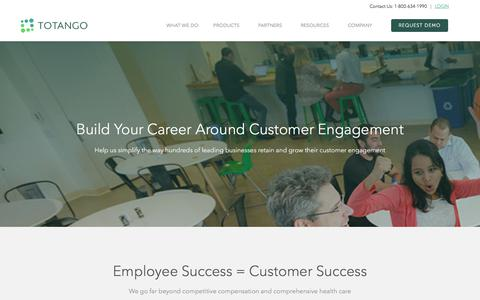 Screenshot of Jobs Page totango.com - Careers | Totango | Customer Success - captured May 5, 2018