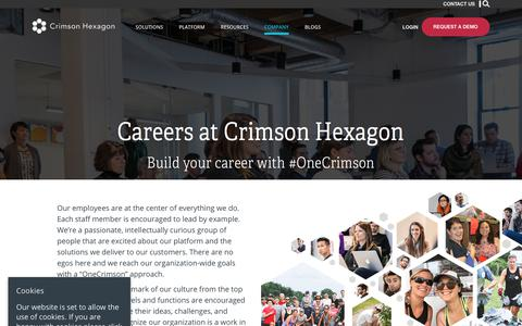Screenshot of Jobs Page crimsonhexagon.com - Social listening platform | Crimson Hexagon Careers - captured June 21, 2018