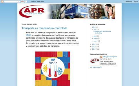 Screenshot of Home Page elrincondelcomercioexterior.com - El Rincón del Comercio Exterior - captured Sept. 11, 2015