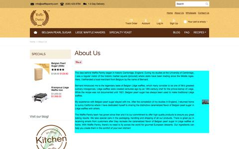 Screenshot of About Page wafflepantry.com - About Us - captured Nov. 28, 2016
