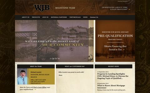 Screenshot of Jobs Page wjbradley.com - LoanOfficer - captured Oct. 6, 2014