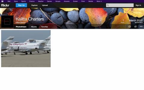 Screenshot of Flickr Page flickr.com - Flickr: Kalitta Charters' Photostream - captured Oct. 23, 2014