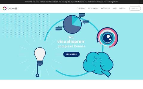 Screenshot of Home Page studiolakmoes.nl - Studio Lakmoes - captured Aug. 16, 2015