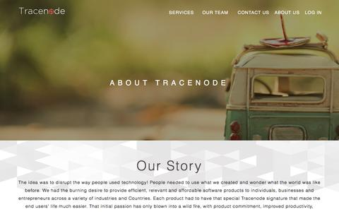 Screenshot of About Page tracenode.com - Tracenode | About - captured April 2, 2016