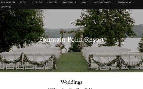 Weddings – Fountain Point Resort
