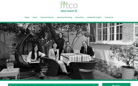 Screenshot of About Page fitco-consulting.com - About Fitco Consulting and our Executive Search in China, Singapore, USA, UK & Hong Kong. - captured Oct. 14, 2017