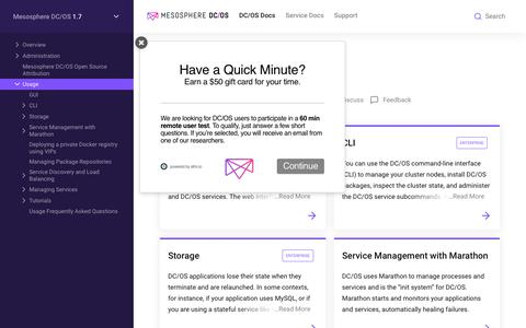 Usage - Mesosphere DC/OS Documentation