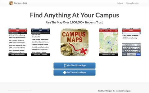 Screenshot of Home Page campus-maps.com - Campus Maps | The Biggest Resource of Campus Maps on the Internet - captured July 9, 2018