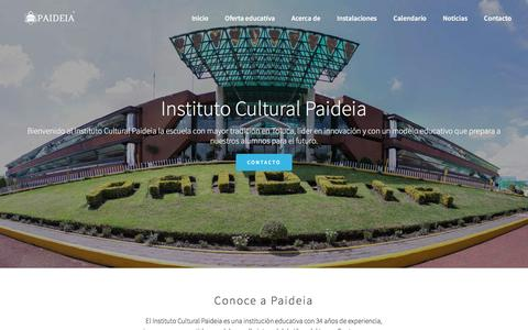 Screenshot of Home Page paideia.mx - Paideia - Instituto Cultural Paideia la mejor escuela en Toluca. - captured Feb. 11, 2016