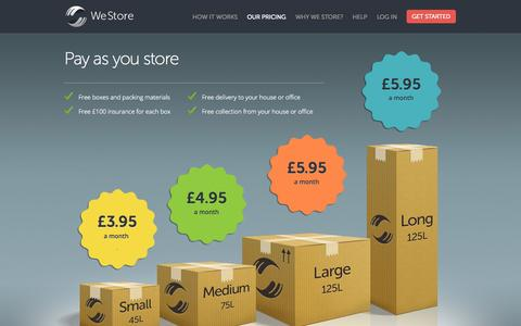 Screenshot of Pricing Page westore.co.uk - WeStore - Pricing - captured Sept. 17, 2014