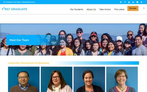 Screenshot of Team Page firstgraduate.org - Staff & Board | First Graduate - captured Aug. 13, 2018
