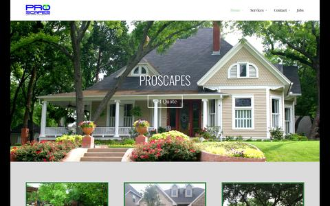 Screenshot of Home Page proscapesclearlake.com - lawn care Clear Lake Texas area - Kemah League City - captured Oct. 1, 2014