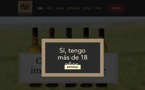 Screenshot of Home Page mercadodevinos.com - Medellin Vinos | Domicilios | Mercadodevinos - captured Sept. 24, 2018