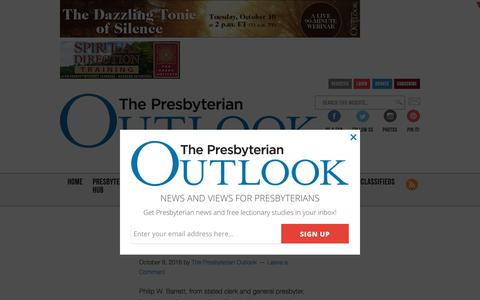 Screenshot of Team Page pres-outlook.org - About People Archives - The Presbyterian Outlook - captured Aug. 25, 2017