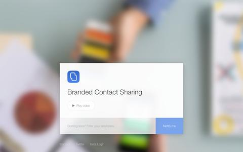 Screenshot of Home Page stacks.co - Stacks | Branded Contact Sharing - captured Aug. 11, 2015