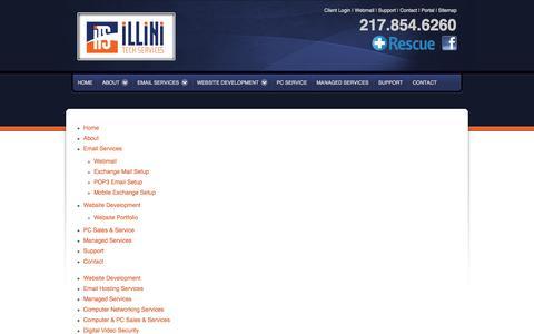Screenshot of Site Map Page illinitechs.com - Illini Tech Services - captured Oct. 6, 2014