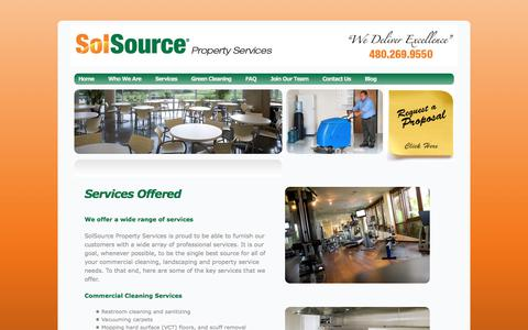 Screenshot of Services Page solsourcephoenix.com - Services | Sol Source Phoenix - captured Nov. 6, 2017