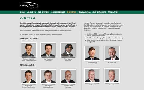 Screenshot of Team Page transportadvisory.com - Interfleet Transport Advisory :: Our Team - captured Oct. 6, 2014