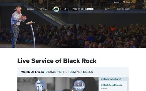 Screenshot of Press Page blackrock.org - Live Service of Black Rock | Black Rock Church - captured Oct. 6, 2018