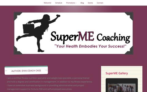 Screenshot of Blog wordpress.com - Diva Coach Cass – SuperME Coaching - captured June 17, 2017