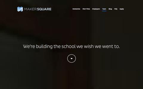 Screenshot of Team Page makersquare.com - Team - captured Sept. 24, 2014