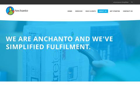 Screenshot of About Page anchanto.com - ABOUT US - Anchanto - captured Dec. 4, 2015