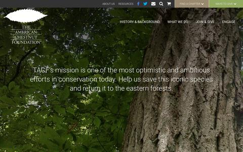 Screenshot of Home Page Site Map Page acf.org - Saving the American Chestnut Tree | The American Chestnut Foundation - captured Jan. 29, 2018
