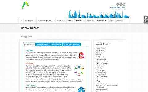 Screenshot of Case Studies Page capstoneconnects.com - Capstone Clients - Case Studies - captured Oct. 1, 2014