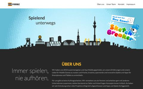 Screenshot of Home Page 2upmobile.com - 2up mobile | Spielend unterwegs - captured Aug. 4, 2015