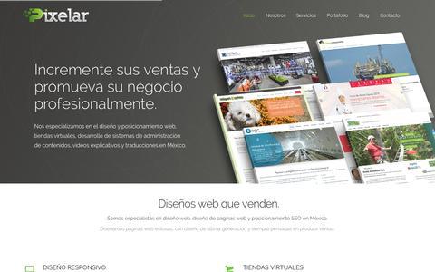 Screenshot of Home Page pixelar.com.mx - Diseño web y Diseño de páginas web, México D.F. - captured June 18, 2015