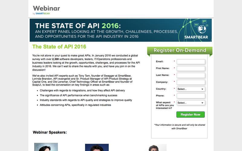 State of API in 2016 [WEBINAR]