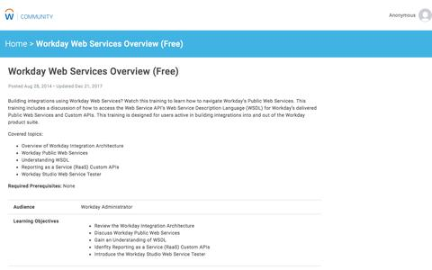 Workday Web Services Overview (Free)   Workday Community