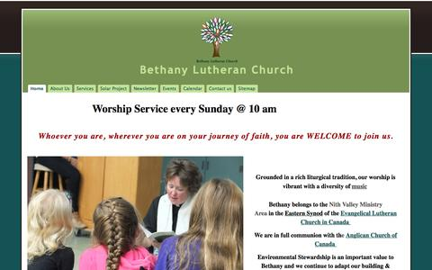 Screenshot of Home Page google.com - Bethany Lutheran Church - captured Oct. 9, 2015