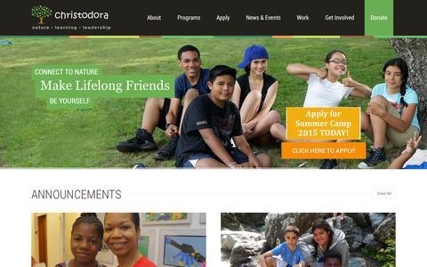 Screenshot of Home Page christodora.org - ChristodoraHome   Christodora - captured July 20, 2015