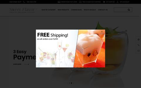 Screenshot of Home Page sweetflavorfl.com - Mini Dishes & Catering Supplies  - Sweet Flavor - Creative Tableware Designer - captured Sept. 25, 2017
